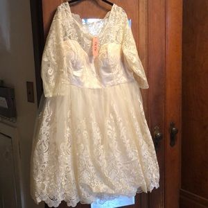 Chi Chi London Champagne Wedding Dress ModCloth